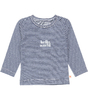 baby shirt - stripe navy world
