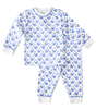 baby pyjama - white whale