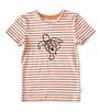 t-shirt korte mouw jongens - rood gestreept schildpad - Little Label