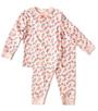 roze pyjama bloemen print Little Label