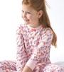 model foto roze pyjama bloemen print Little Label