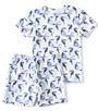 korte pyjama wit toekan-print Little Label