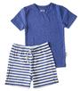 korte gestreepte pyjama Little Label