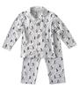 jongens pyjamaset jongens grijs pinguin print Little Label