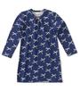 slaapshirt meisjes blauw strikjes Little Label