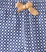geruite pyjamabroek met lint Little Label