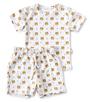 zomer pyjama baby jongen wit tiger print Little Label