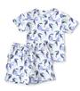 korte baby pyjama wit toekan-print Little Label